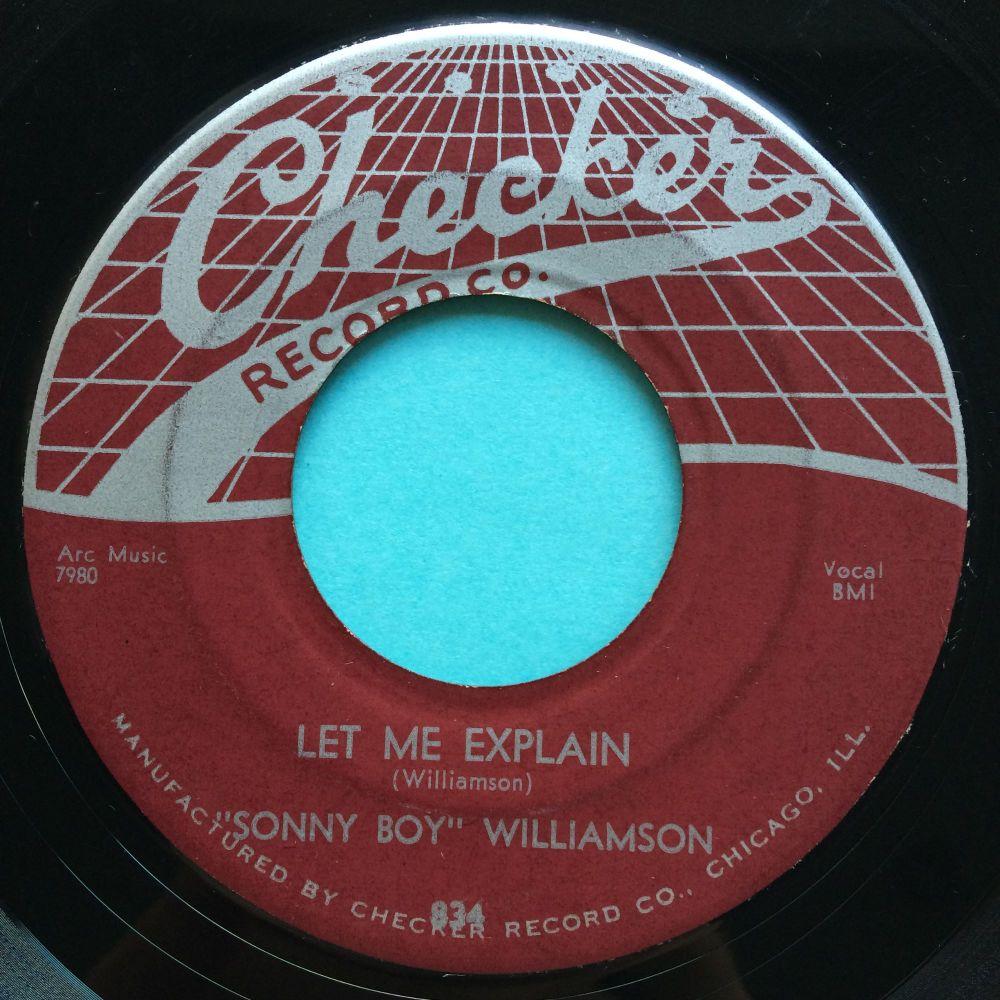 Sonny Boy Williamson - Let me explain - Checker - Ex-