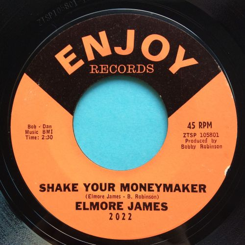Elmore James - Shake your moneymaker b/w Look on yonder wall - Enjoy - Ex