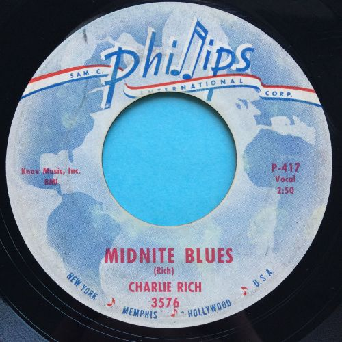Charlie Rich - Midnite Blues - Phillips - Ex-