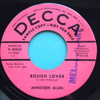 Annisteen Allen - Rough Lover - Decca promo - Ex