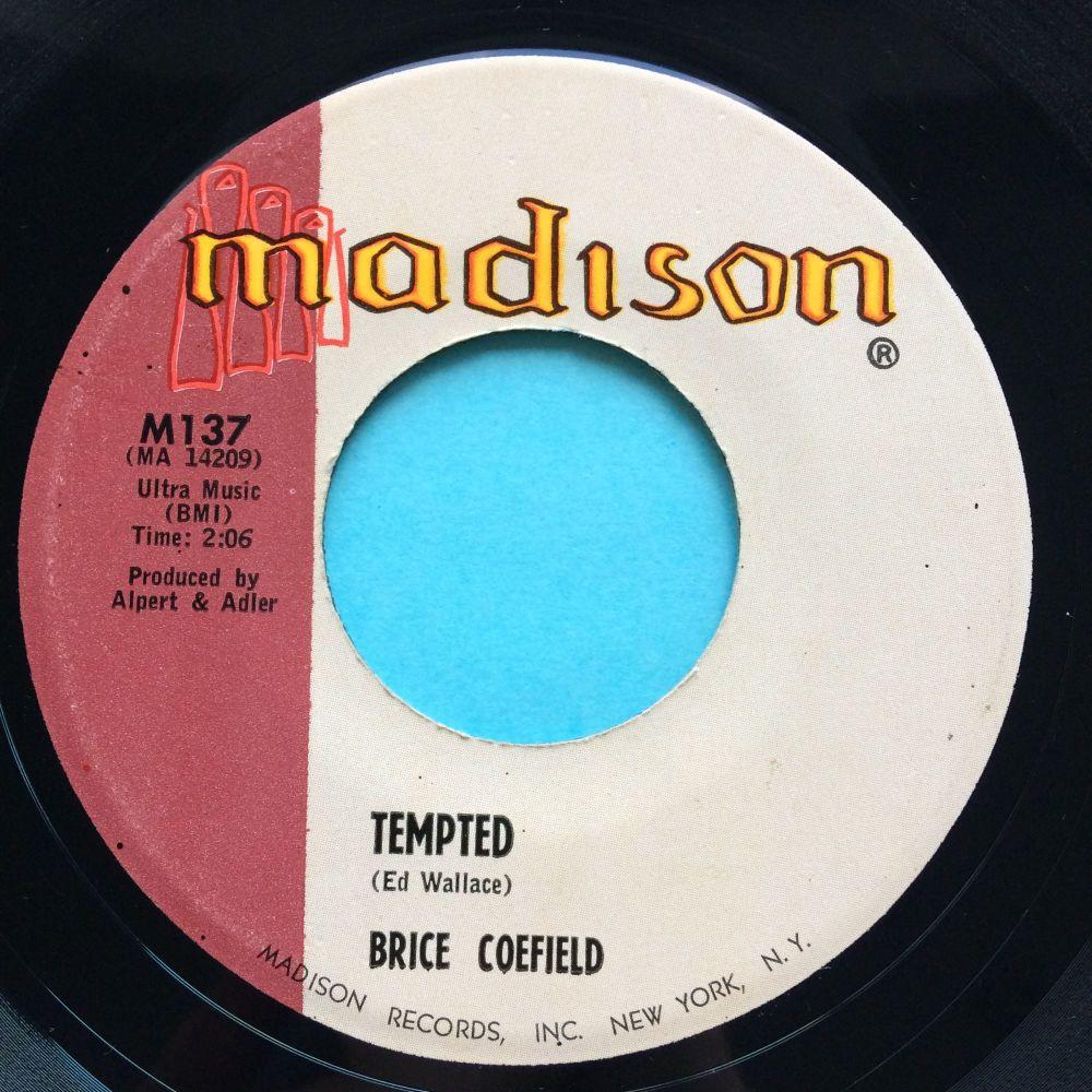 Brice Coefield - Tempted b/w Cha Cha Twist - Madison - Ex-