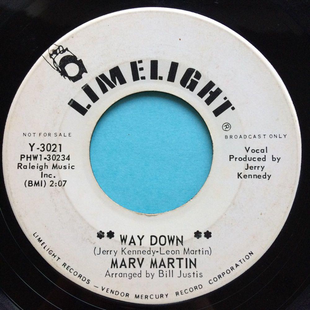 Marv Martin - Way down - Limelight promo - Ex-