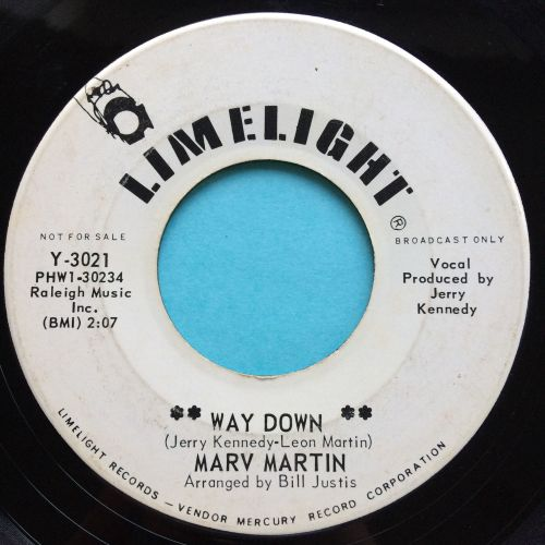 Marv Martin - Way down - Limelight promo - Ex-