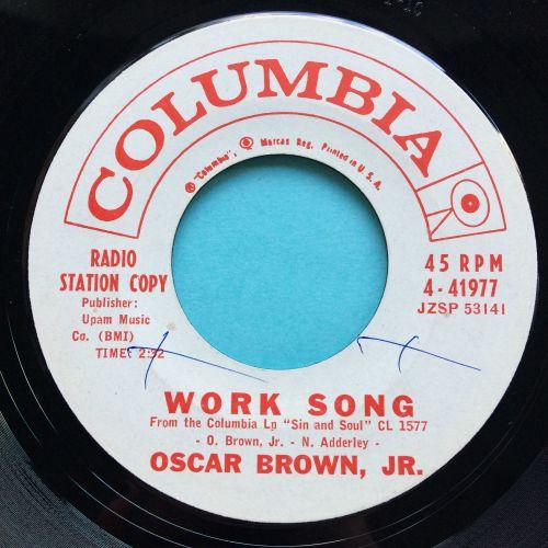 Oscar Brown Jr - Work song - Columbia promo - Ex (xol)