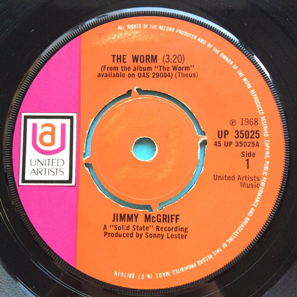 Jimmy McGriff - The Worm - UA (U.K.) - VG+