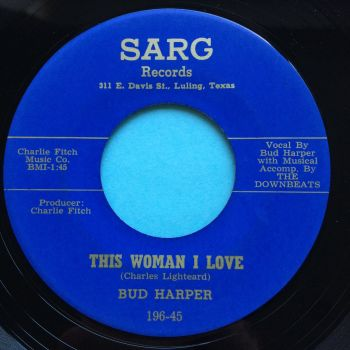Bud Harper - Down the aisle b/w This woman I love - Sarg - Ex