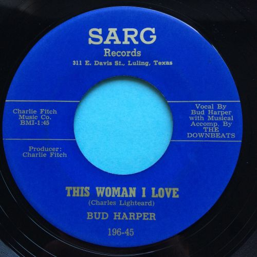 Bud Harper - Down the aisle b/w This woman I love - Sarg - Ex
