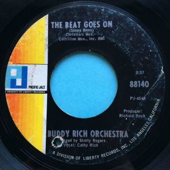 Buddy Rich Orchestra - The beat goes on - Pacific Jazz - VG (plays VG+)