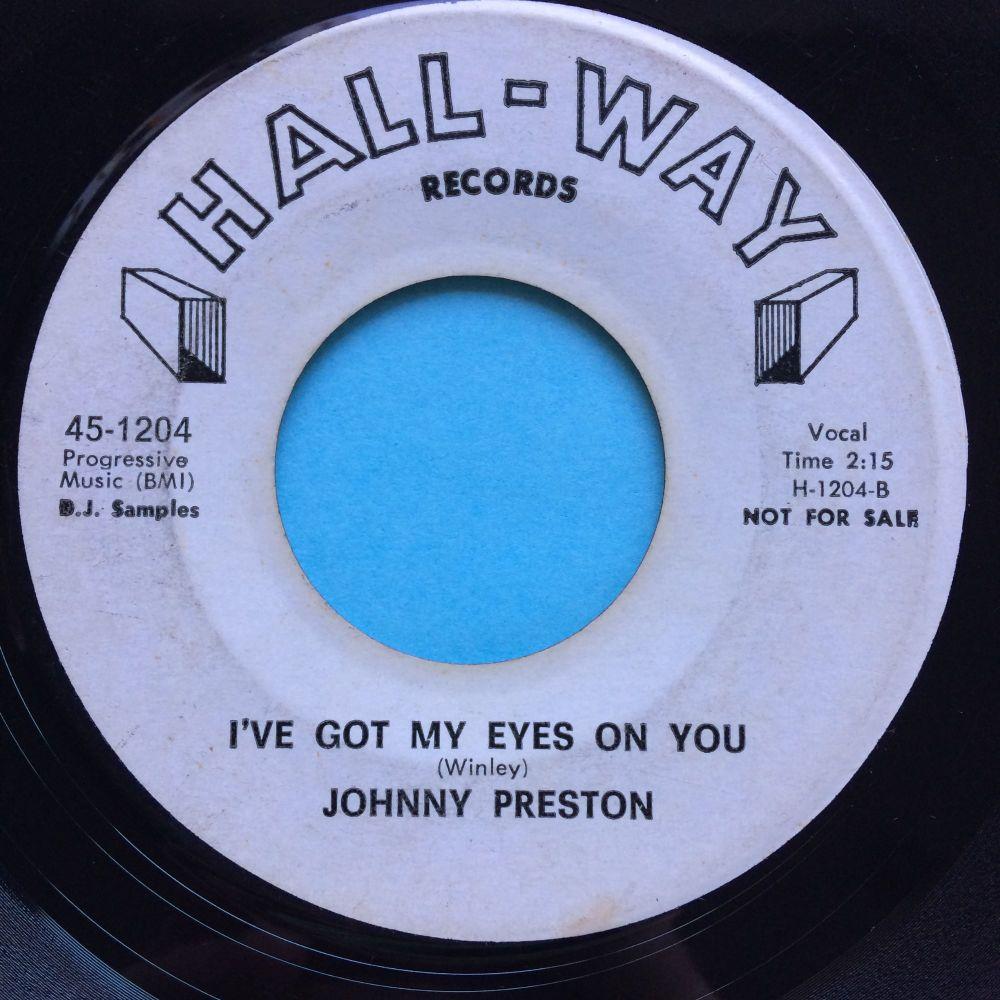 Johnny Preston - I've got my eyes on you - Hall-Way promo - VG+