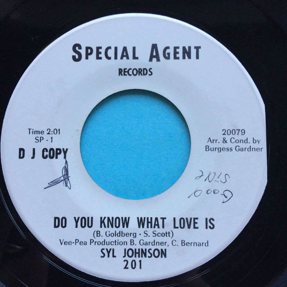 Syl Johnson - Do you know what love is b/w Things ain't right - Special Agent promo - Ex-