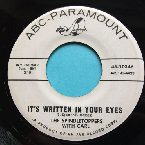 Spindletoppers - It's written in your eyes b/w Hey Moon - ABC promo - VG+