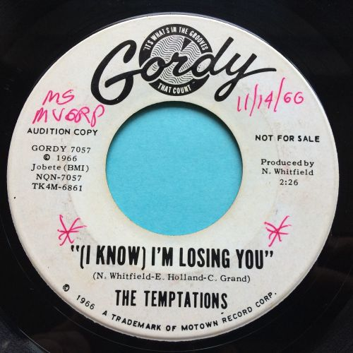 Temptations - (I know) I'm losing you - Gordy promo (wol) - Ex-