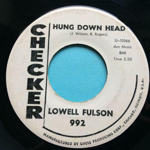Lowell Fulson - Hung down head - Checker promo - VG+
