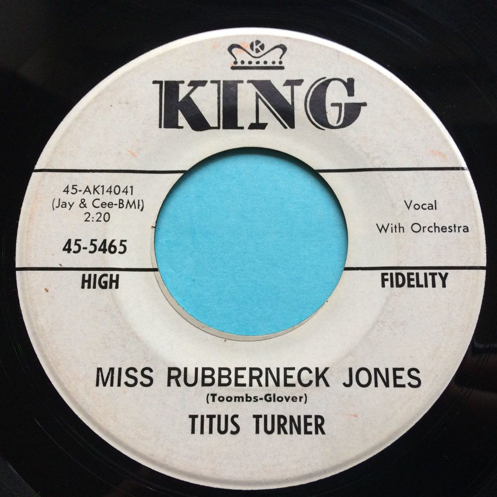 Titus Turner - Miss Rubberneck Jones - King promo - Ex