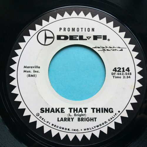 Larry Bright - Shake that thing - Del-Fi promo - Ex