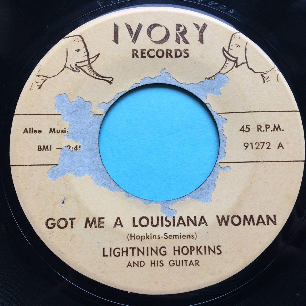 Lightning Hopkins - Got me a Louisiana woman - Ivory - Ex- (some lable tear
