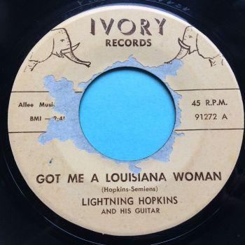Lightning Hopkins - Got me a Louisiana woman - Ivory - Ex- (some label tear)