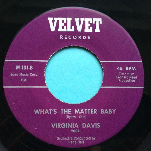 Virginia Davis - What's the matter baby - Velvet - Ex