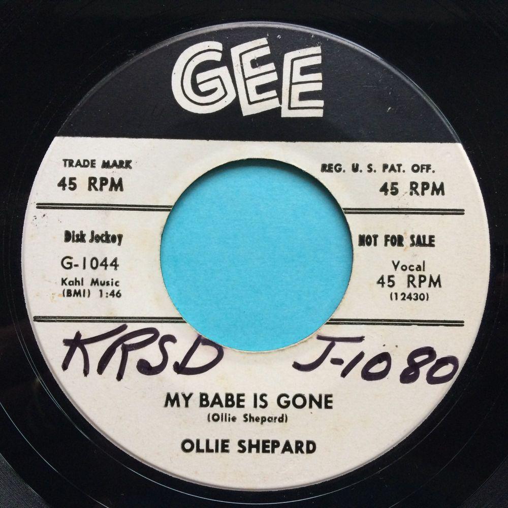 Ollie Shepard - My bby is gone b/w Oh yeah - Gee promo (wol) - Ex
