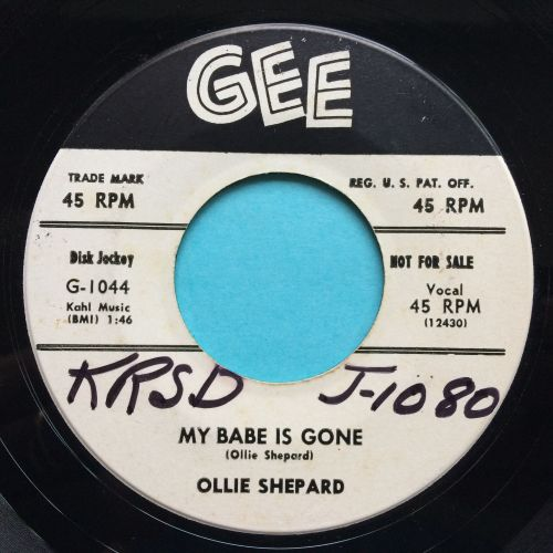 Ollie Shepard - My bby is gone b/w Oh yeah - Gee promo (wol) - Ex