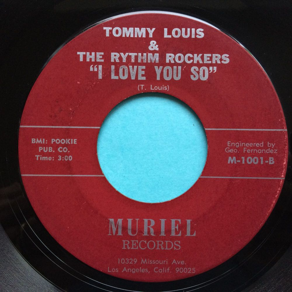 Tommy Louis & the Rhythm Rockers - I love you so - Muriel - VG+
