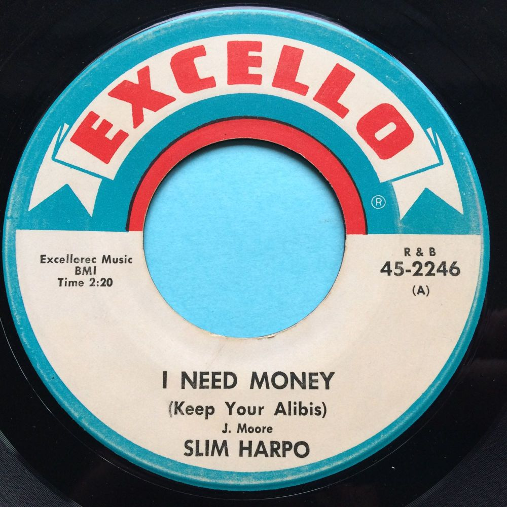 Slim Harpo - Little Queen Bee b/w I need money - Excello - Ex