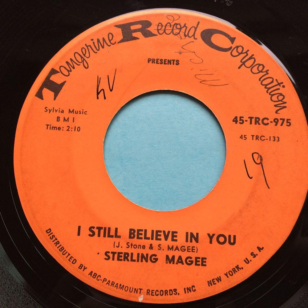 Sterling Magee - I still believe in you b/w Tighten Up - Tangerine - VG+