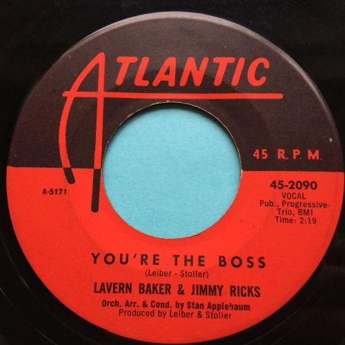 Lavern Baker & Jimmy Ricks - You're the boss - Atlantic - Ex-