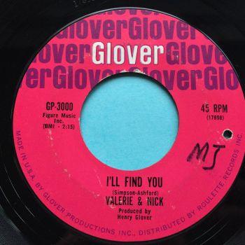 Valerie & Nick - I'll find you - Glover - VG+