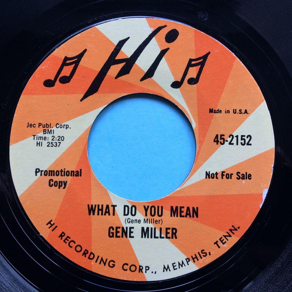 Gene Miller - What do you mean - Hi promo - Ex-