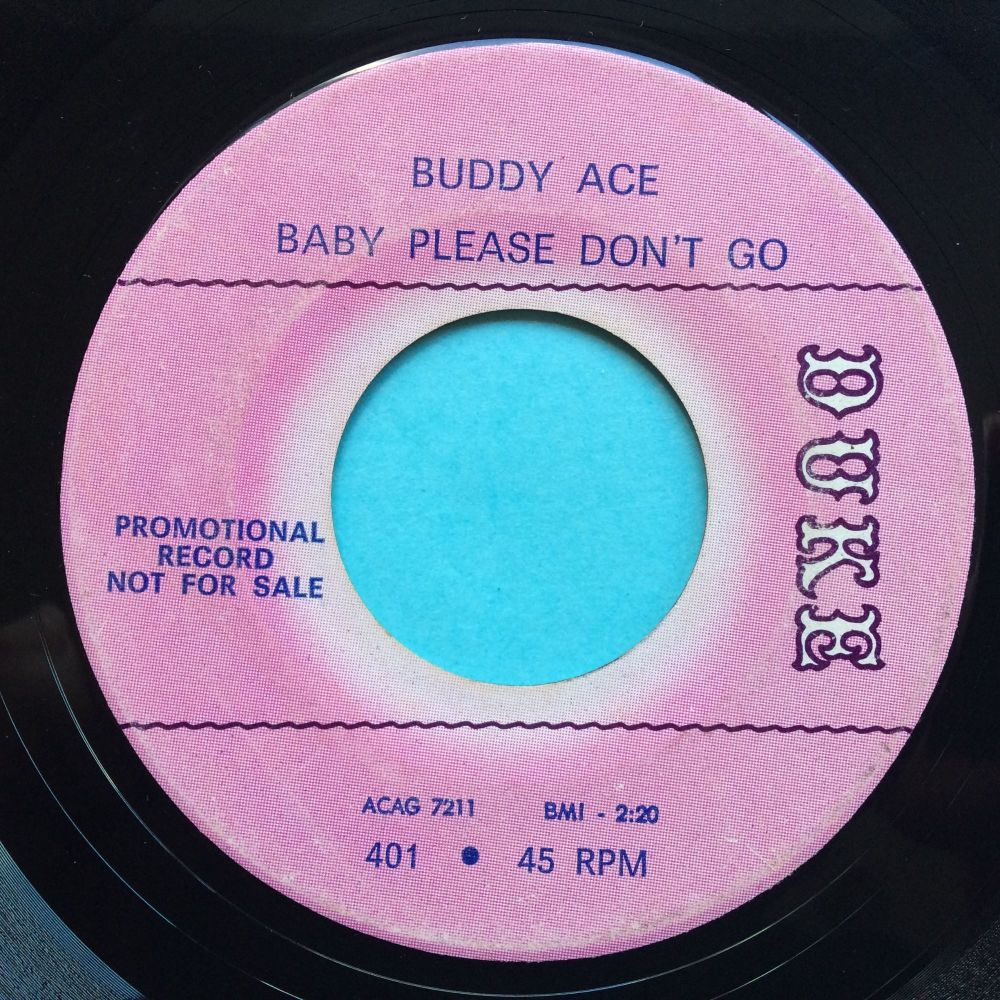 Buddy Ace - Baby please don't go - Duke promo - VG+