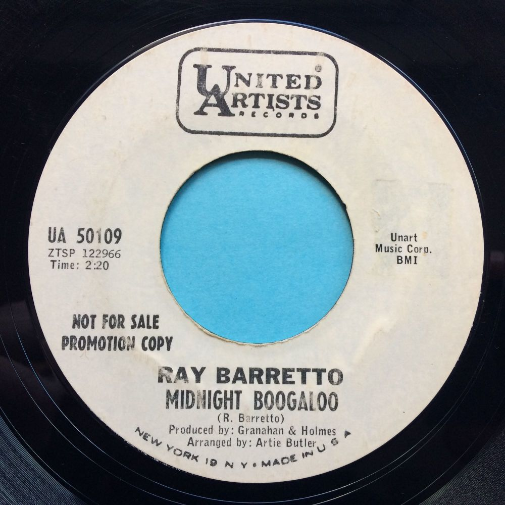 Ray Barretto - Midnight Boogaloo - United Artists promo - VG+