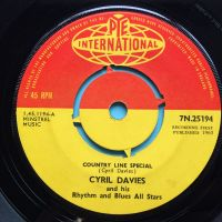 Cyril Davies and his Rhythm and Blues All Stars - Country Line Special b/w Chicago Calling - UK Pye International - Ex-