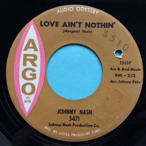 Johnny Nash - Love ain't nothin' - Argo - Ex-