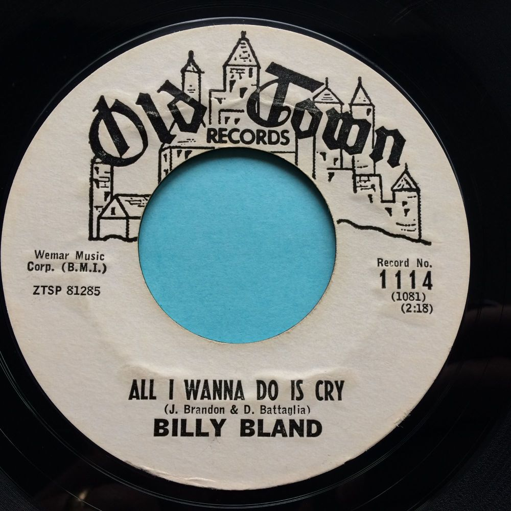 Billy Bland - All I wanna do is cry - Old Town promo - VG+