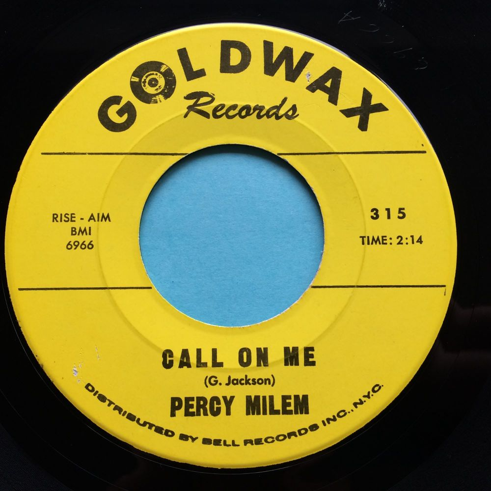 Percy Milem - Call on me - Goldwax - Ex-