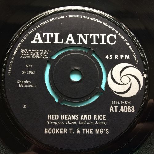 Booker T. & the MG's - Red beans and rice - UK Atlantic - Ex