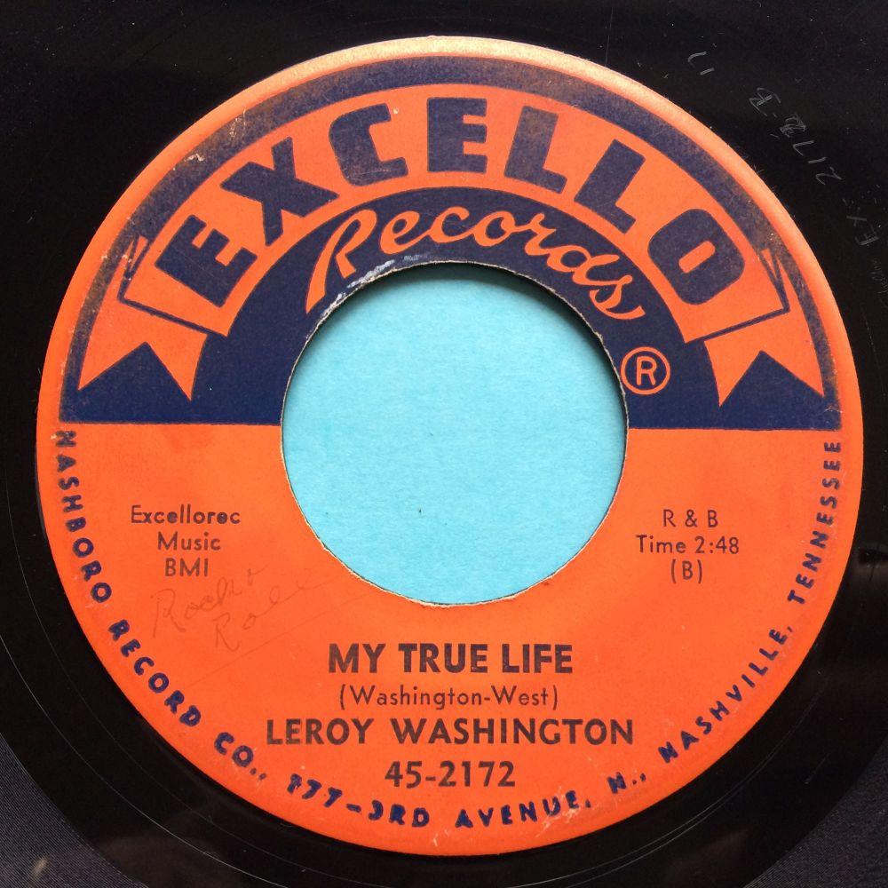 Leroy Washington - My true life - Excello - VG+