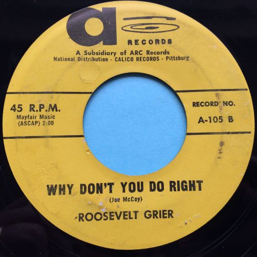 Roosevelt Grier - Why don't you do right - A (Arc) - VG+
