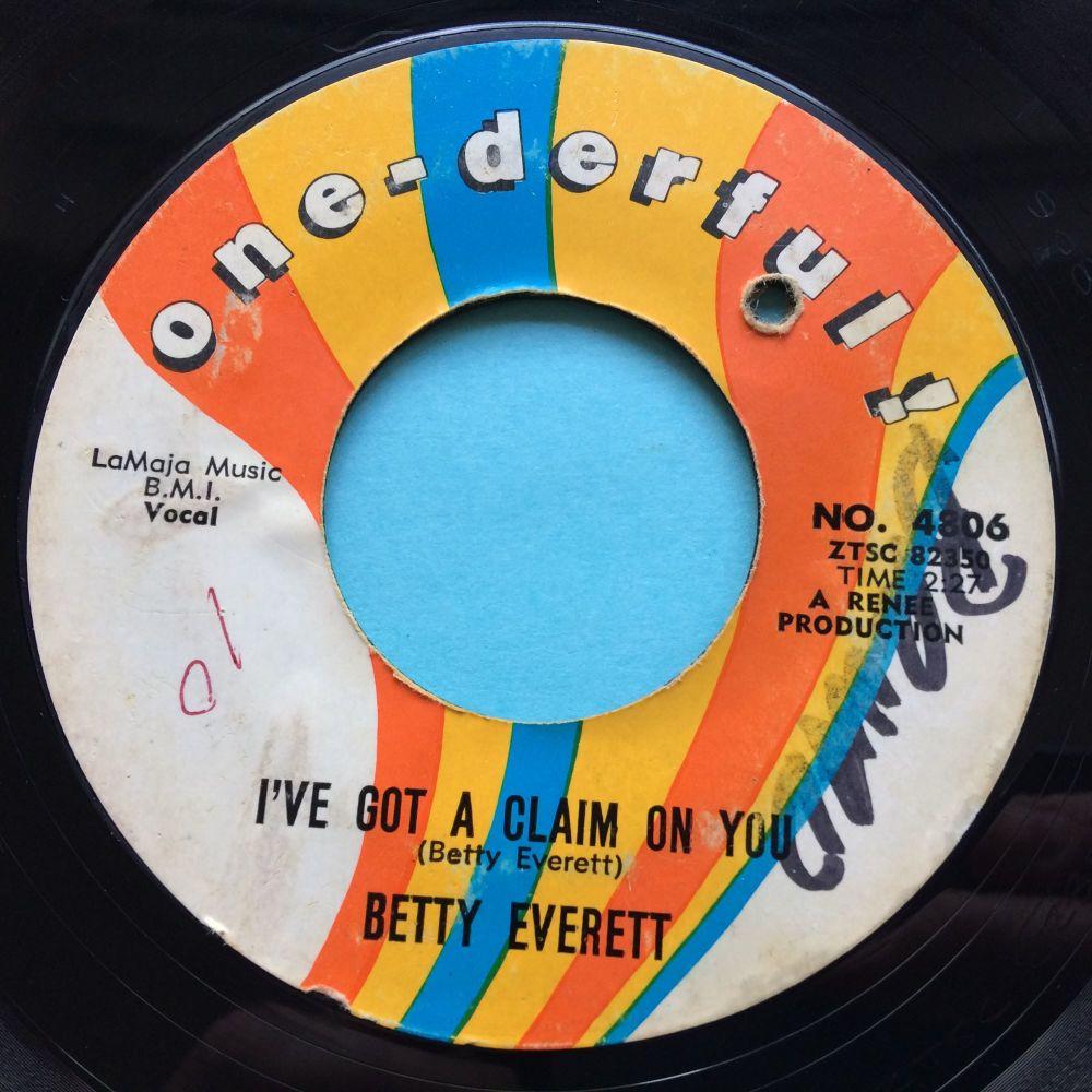 Betty Everett - I've got a claim on you - One-derful - VG+ (wol)