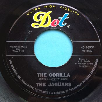 Jaguars - The Gorilla b/w You'll turn away - Dot - Ex-