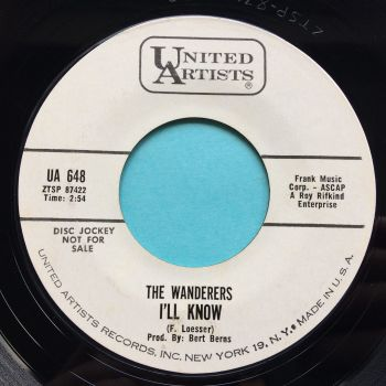 Wanderers - I'll know b/w You can't run away - United Artists promo - Ex