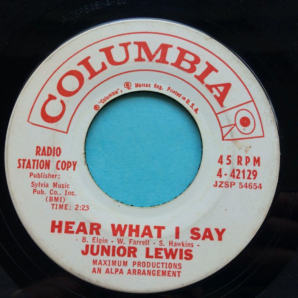 Junior Lewis - Hear what I say - Columbia promo - VG+