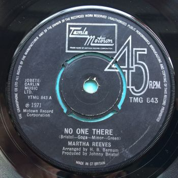 Martha Reeves - No one there - U.K. Tamla Motown - VG+