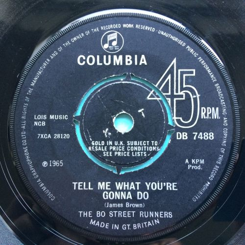 Bo Street Runners - Tell me what you're gonna do b/w And I do just what I w