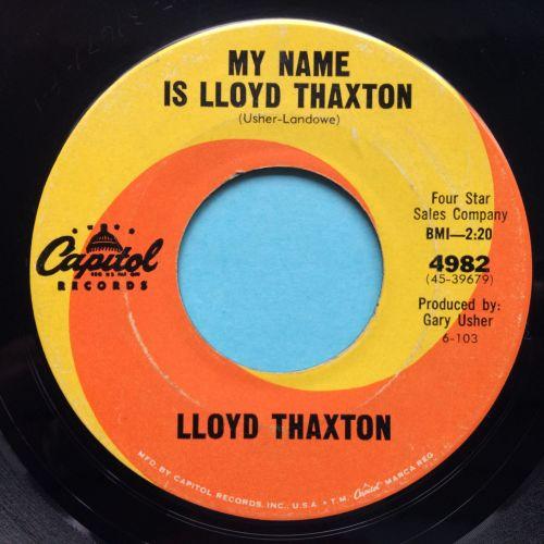 Lloyd Thaxton - My name is Lloyd Thaxton - Capitol - VG+