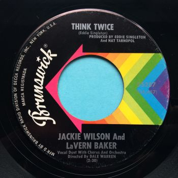 Jackie Wilson and LaVern Baker - Think Twice - Brunswick - Ex-