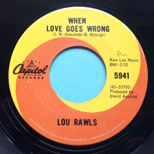 Lou Rawls - When love goes wrong - Capitol - Ex