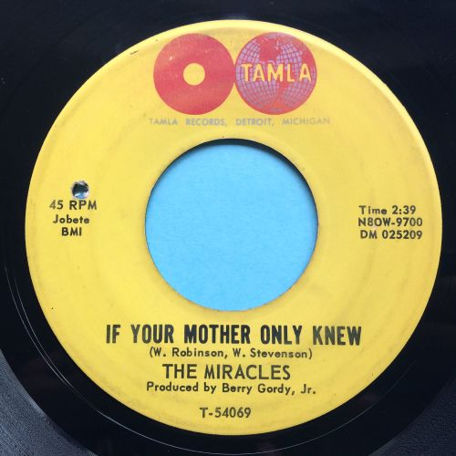 Miracles - If your mother only knew - Tamla - VG+