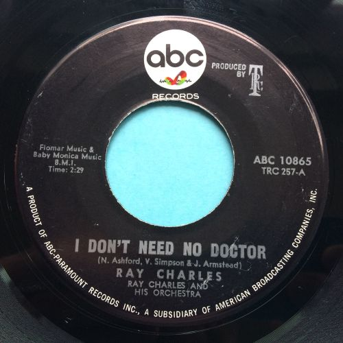Ray Charles - I don't need no doctor - ABC - Ex-